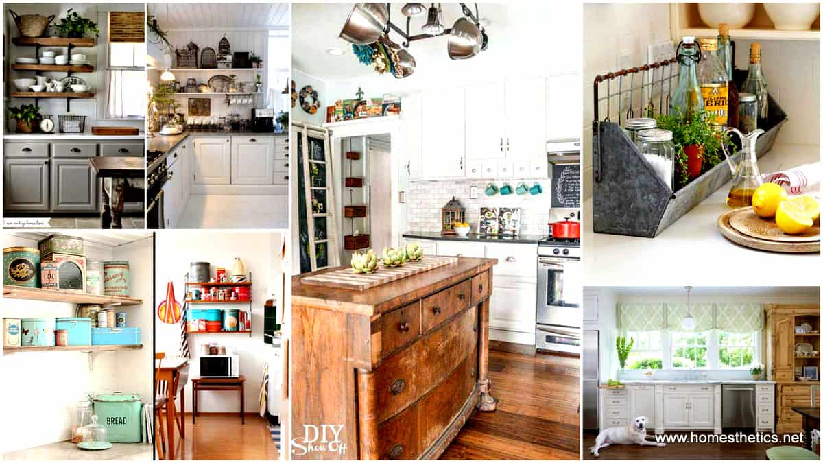 24 Creative Ideas on How to Add a Vintage Touch to Your Kitchen