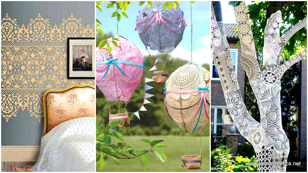 1 22 Charming and Beautiful Lace DIY Projects to Realize at Home
