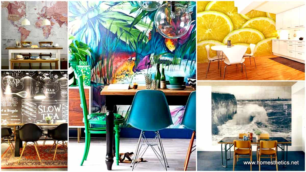 1 22 Cool Dinning Rooms Transformed Beautifully by Wall Murals