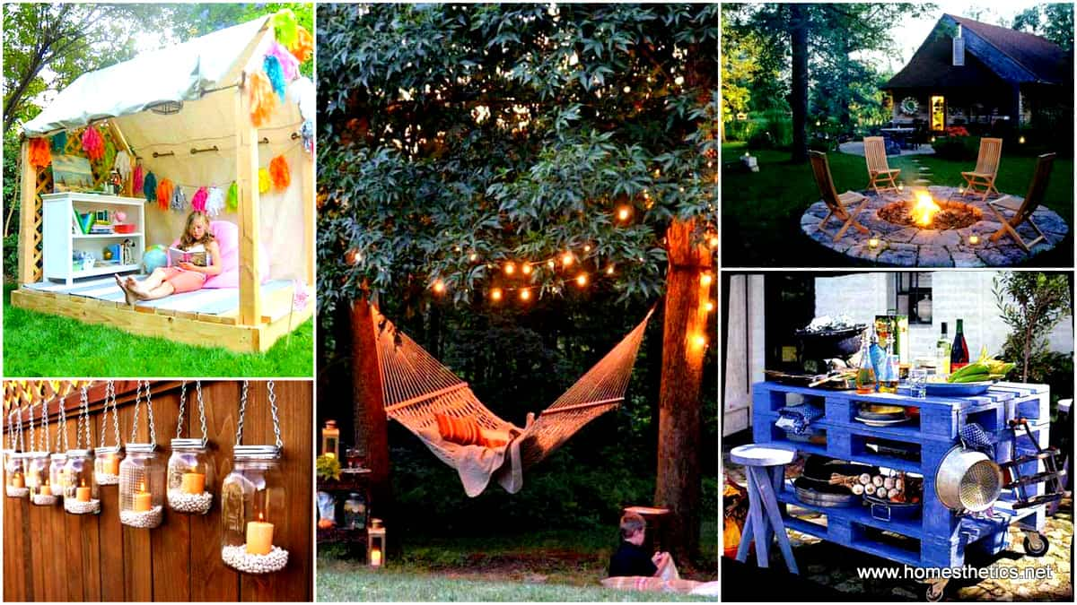 32 Smart DIY Ways to Prepare Your Backyard For Enterntaining