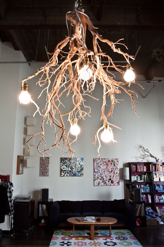 #1 Sculptural branches emphasizing through shape highlighted through light