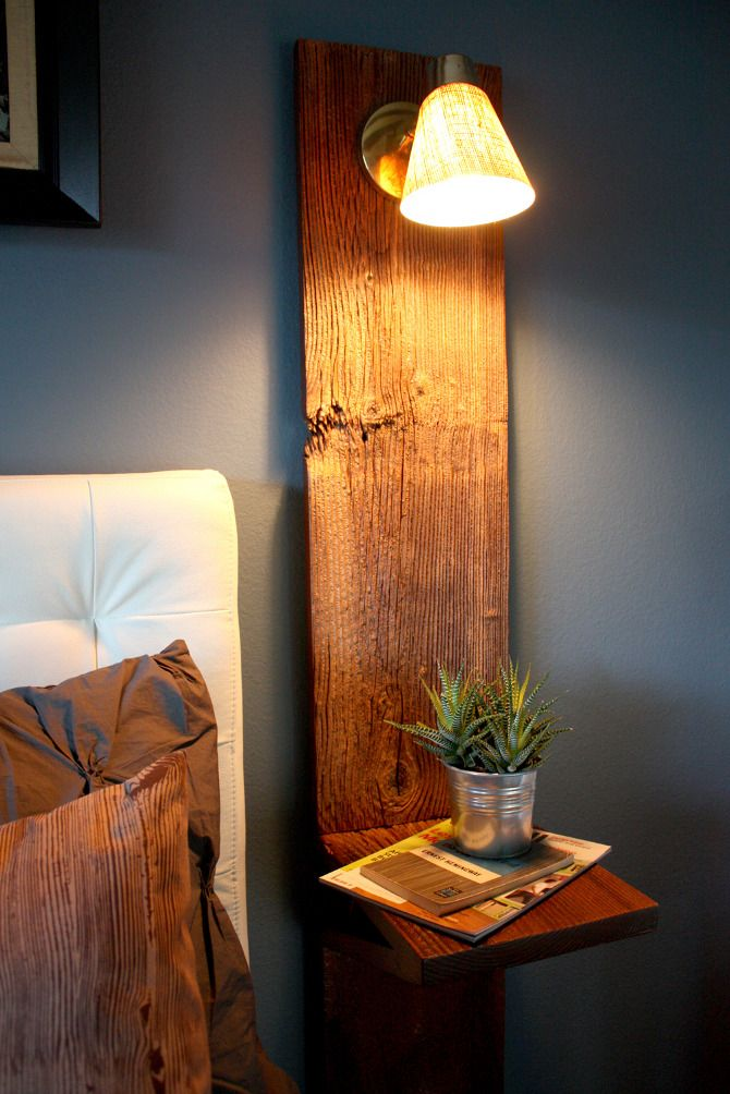 #9 embrace change with a diy wooden lamp and side-table in the bedroom