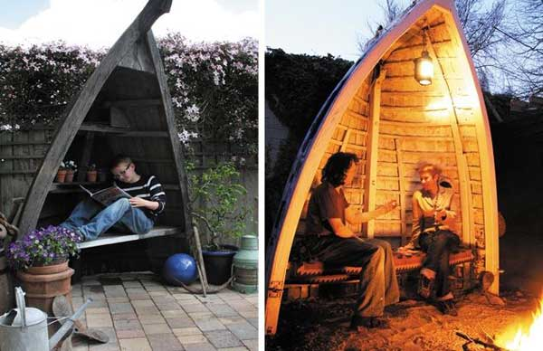 15 Insanely Beautiful And Creative Ways To Reuse Old Boats In Design