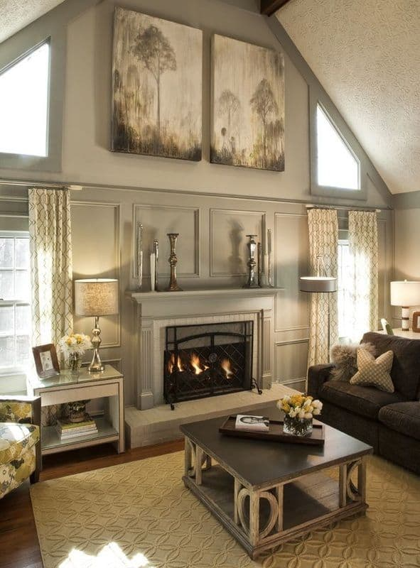 16 Ways To Add Decor To Your Vaulted Ceilings homesthetics decor (5)