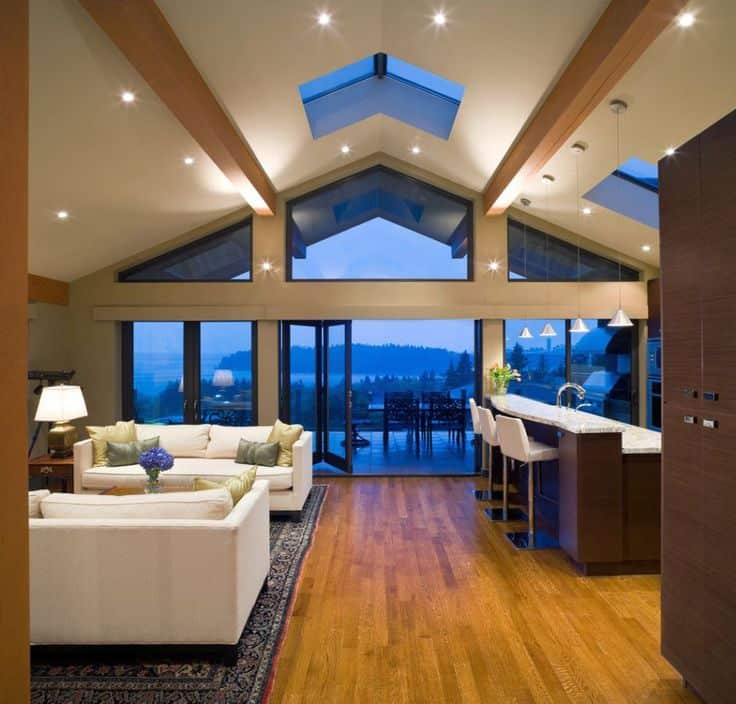 Ways To Add Decor To Your Vaulted Ceilings - Decorating rooms with vaulted ceilings