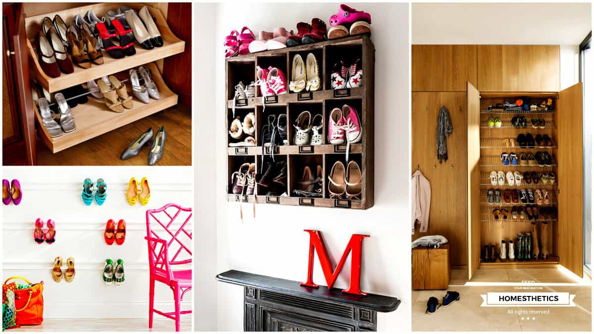 18 smart examples of shoe storage diy projects for your home. Black Bedroom Furniture Sets. Home Design Ideas
