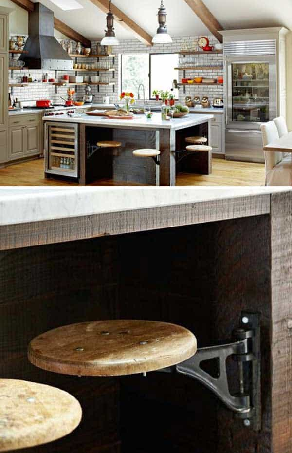 19 Neat Useful Kitchen Isles Designs With Seating Options Included homesthetics decor (1)