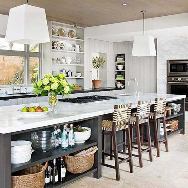 19 Neat Useful Kitchen Isles Designs With Seating Options Included homesthetics decor (13)