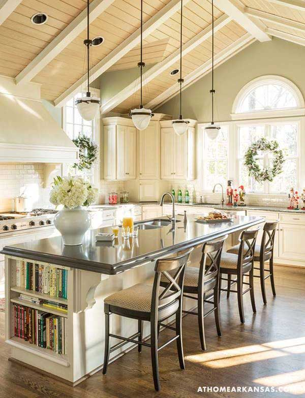 19 Neat Useful Kitchen Isles Designs With Seating Options Included homesthetics decor (19)