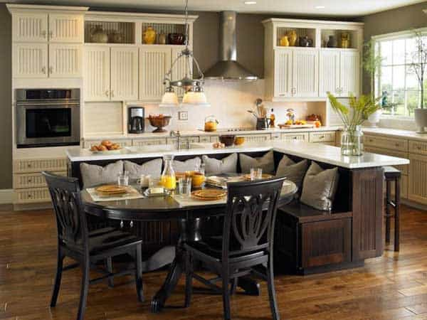 19 Neat Useful Kitchen Isles Designs With Seating Options Included homesthetics decor (6)