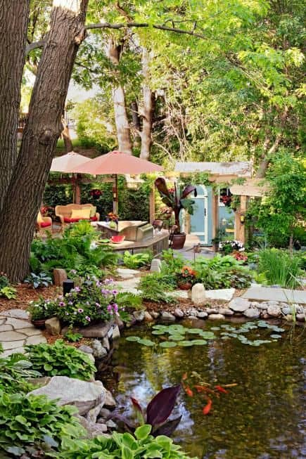 19 Simply Breathtaking Backyard Pond Designs to Materialize Between Greenery homesthetics decor (1)