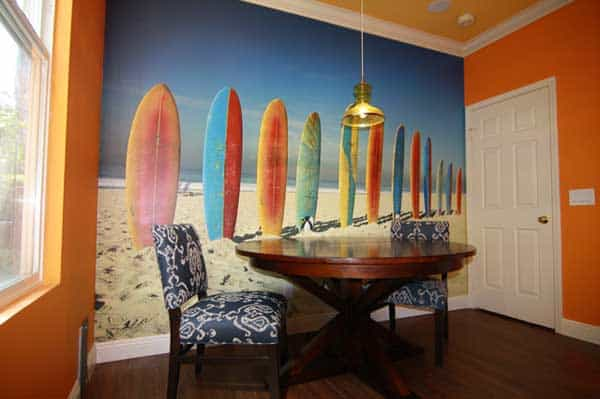 22 Cool Dinning Rooms Transformed Beautifully by Wall Murals homesthetics decor (12)