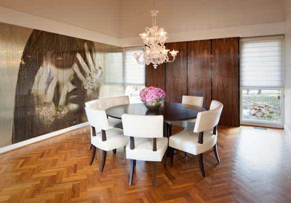 22 Cool Dinning Rooms Transformed by Wall Murals homesthetics decor