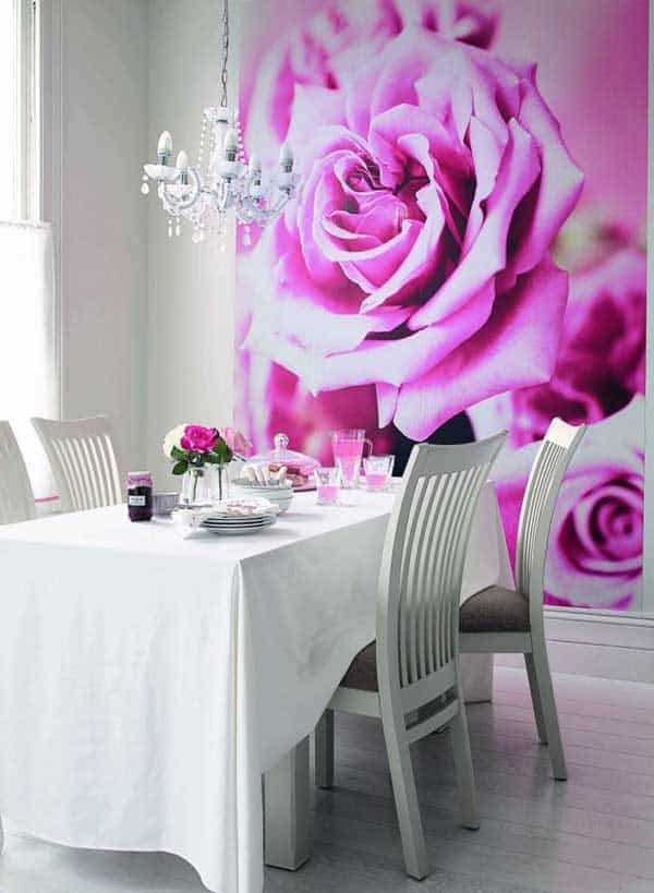 22 Cool Dinning Rooms Transformed by Wall Murals homesthetics decor (22)
