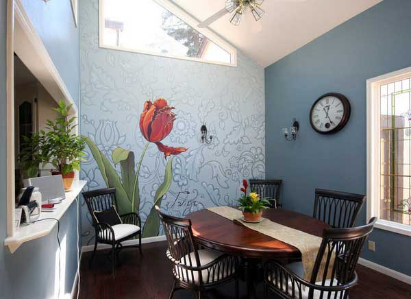 22 Cool Dinning Rooms Transformed Beautifully by Wall Murals homesthetics decor (4)