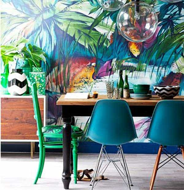 22 Cool Dinning Rooms Transformed Beautifully by Wall Murals homesthetics decor (5)