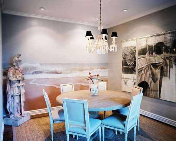 22 Cool Dinning Rooms Transformed Beautifully by Wall Murals homesthetics decor (8)