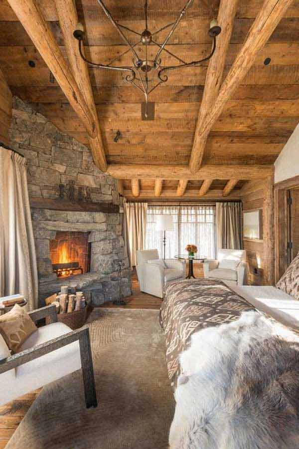 22 Extraordinary Beautiful Rustic Bedroom Interior Designs Filled With Coziness homesthetics decor (11)