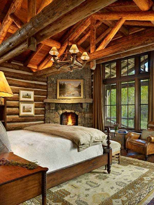 22 Extraordinary Beautiful Rustic Bedroom Interior Designs Filled With  Coziness Homesthetics Decor (19)