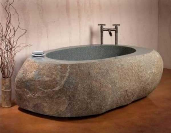 22 Natural Stone Bathtubs Emphasizing Their Spatialities homesthetics cool bathrooms (12)