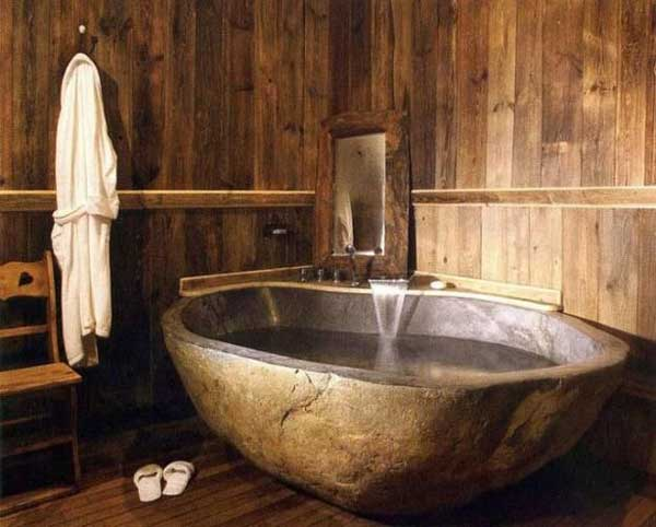 22 Natural Stone Bathtubs Emphasizing Their Spatialities homesthetics cool bathrooms (15)