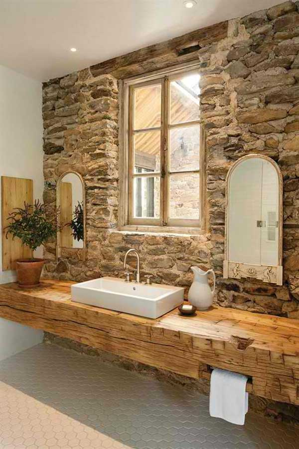 22 Natural Rock Bathtubs Emphasizing Their Spatialities homesthetics cool bathrooms