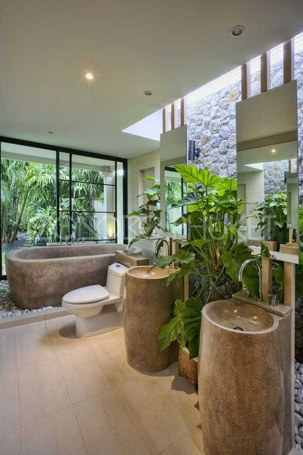 22 Natural Stone Bathtubs Emphasizing Their Spatialities homesthetics cool bathrooms (18)