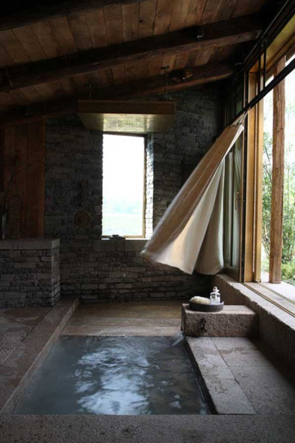22 Natural Stone Bathtubs Emphasizing Their Spatialities homesthetics cool bathrooms (20)