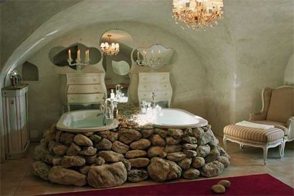 Attrayant 22 Natural Rock Bathtubs Emphasizing Their Spatialities Homesthetics Cool  Bathrooms