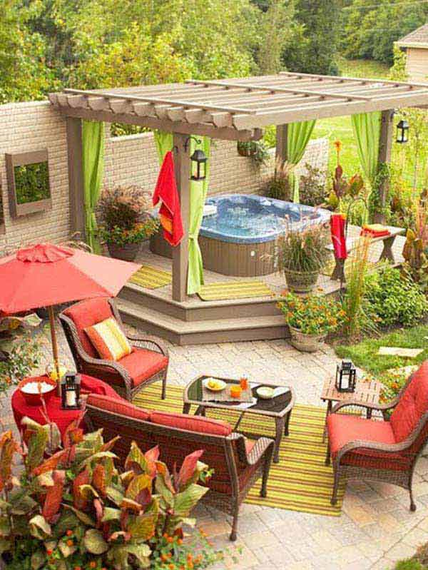 23 Simple Beautiful Small Backyards Presenting Spaciousness and Warmth homesthetics designs (4)