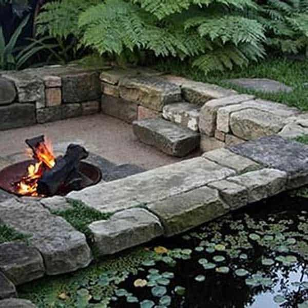 23 Simply Impressive Sunken Sitting Areas For a Mesmerizing Backyard Landscape homesthetics decor (13)