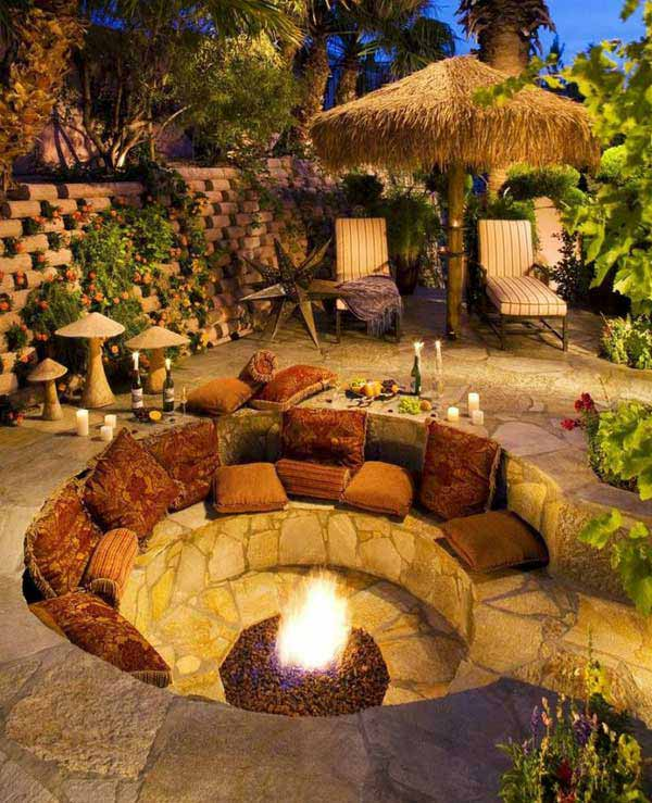 23 Simply Impressive Sunken Sitting Areas For a Mesmerizing Backyard Landscape homesthetics decor (14)