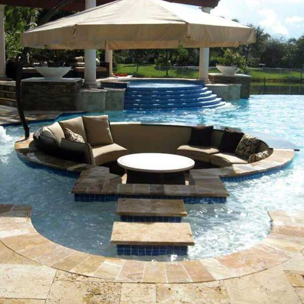 23 Simply Impressive Sunken Sitting Areas For A