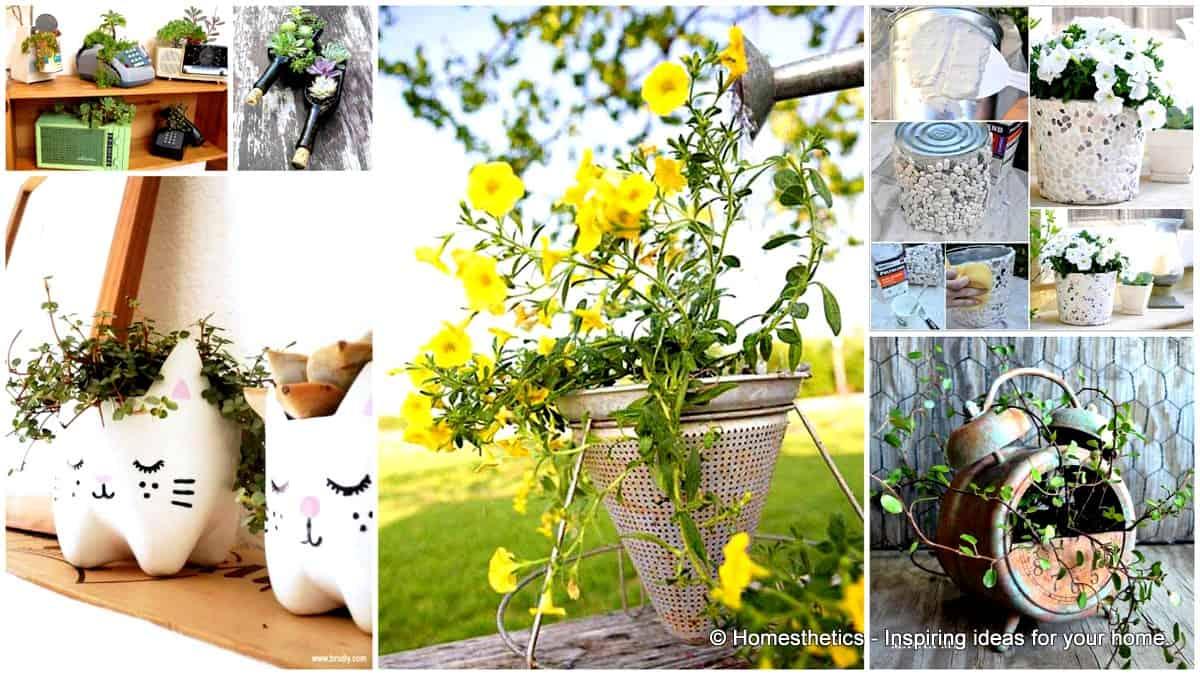 24 Highly Creative Yet Inexpensive Recycled Flower Pots For Your Household