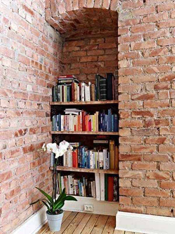 24 Insanely Beautiful Wall Bookshelves For Enthusiast Readers homesthetics decor (16)