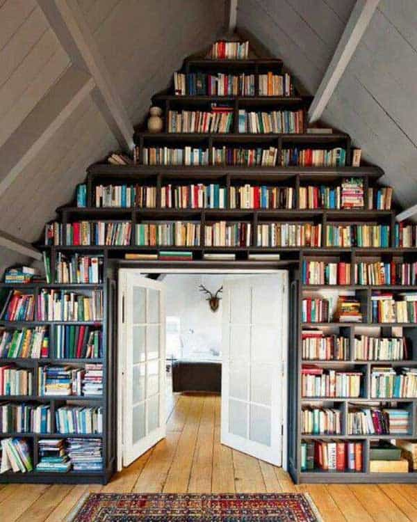 24 Insanely Beautiful Wall Bookshelves For Enthusiast Readers homesthetics decor (17)