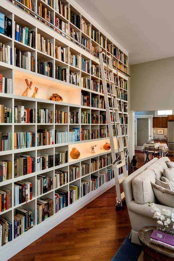 24 Insanely Beautiful Wall Bookshelves For Enthusiast Readers homesthetics decor (20)
