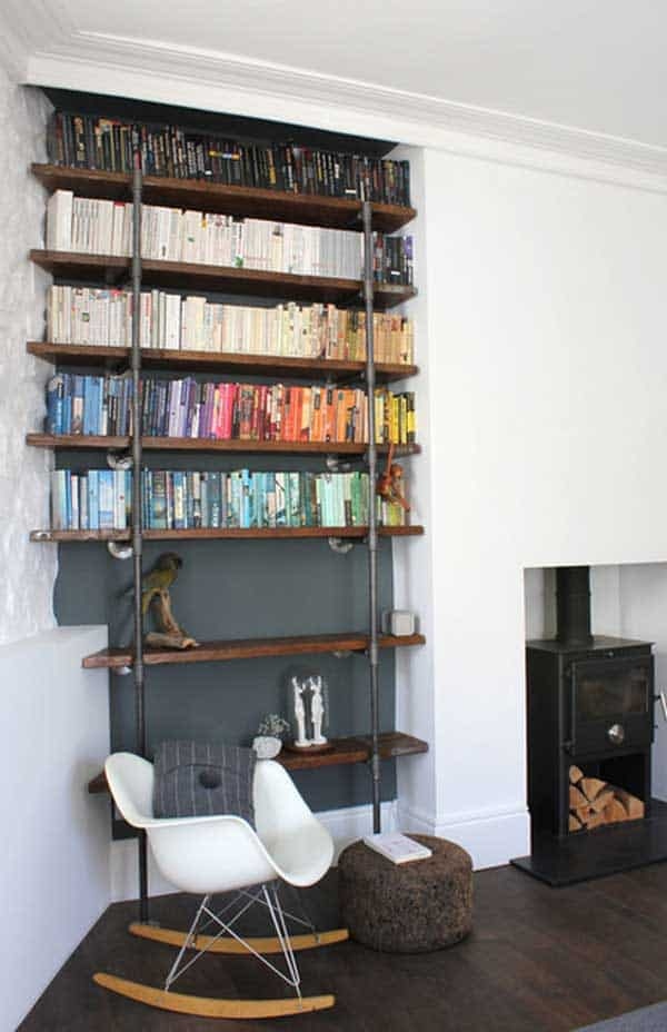 24 Insanely Beautiful Wall Bookshelves For Enthusiast Readers homesthetics decor (24)