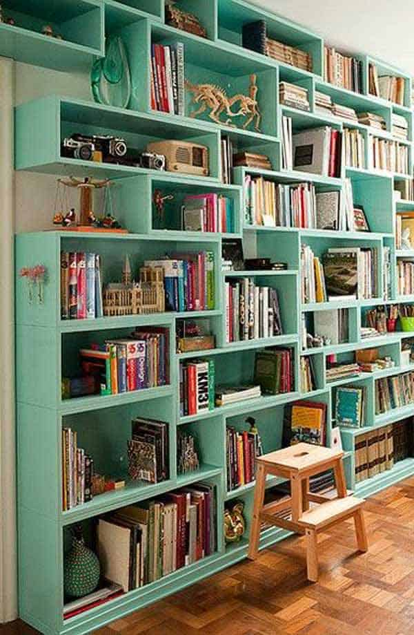 24 Insanely Beautiful Wall Bookshelves For Enthusiast Readers homesthetics decor (6)