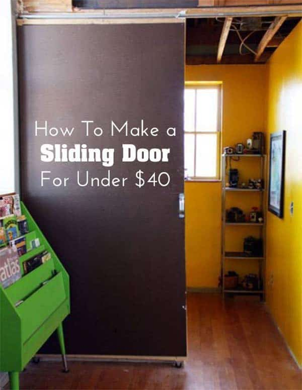 #17 An Inexpensive Sliding Barn Door Can Be A Great Option. 24 Mesmerizing  Creative DIY Room Dividers ...