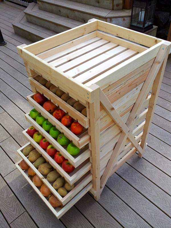 25 Beautiful Cheap Pallet DIY Storage Projects to Realize With Ease homesthetics projects and crafts (19)
