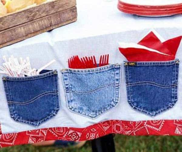 25 Unusual Cool Ways to Upcycle Old Denim Into DIY Projects homesthetics decor (1)