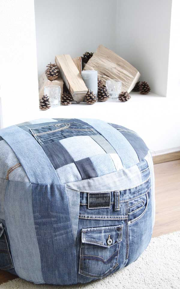 25 Unusual Cool Ways to Upcycle Old Denim Into DIY Projects homesthetics decor (10)
