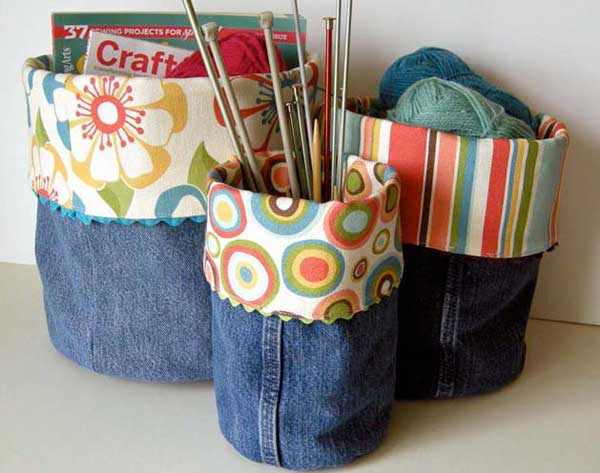 25 Unusual Cool Ways to Upcycle Old Denim Into DIY Projects homesthetics decor (16)