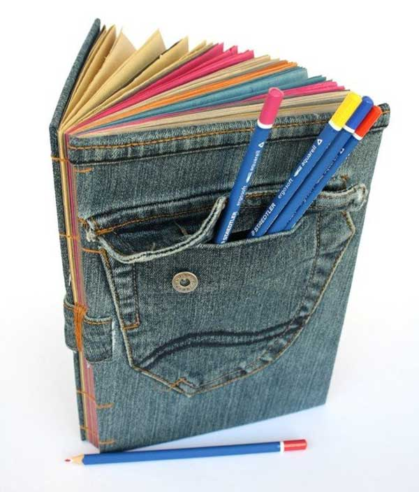 25 Unusual Cool Ways to Upcycle Old Denim Into DIY Projects homesthetics decor (18)