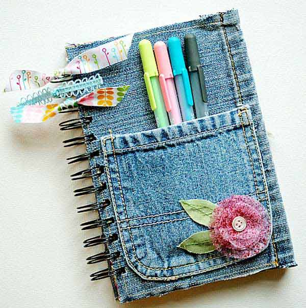 25 Unusual Cool Ways to Upcycle Old Denim Into DIY Projects homesthetics decor (19)