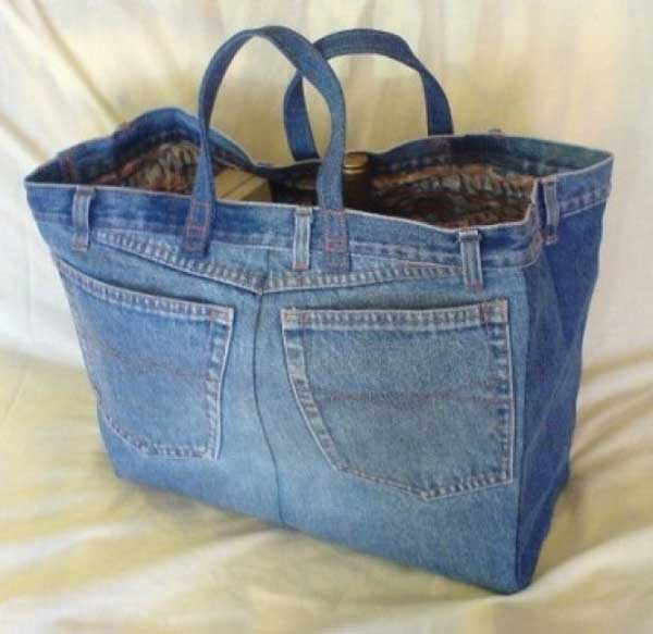 25 Unusual Cool Ways to Upcycle Old Denim Into DIY Projects homesthetics decor (21)