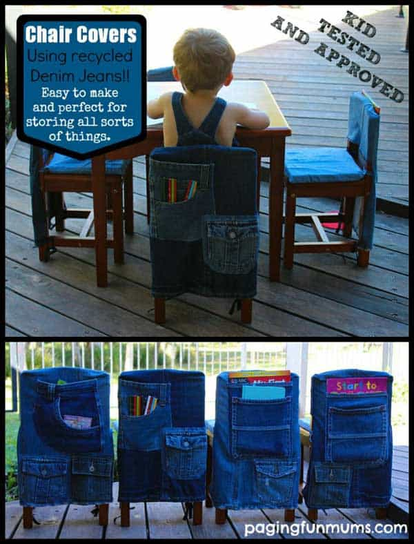 25 Unusual Cool Ways to Upcycle Old Denim Into DIY Projects homesthetics decor (22)