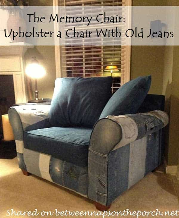25 Unusual Cool Ways to Upcycle Old Denim Into DIY Projects homesthetics decor (6)