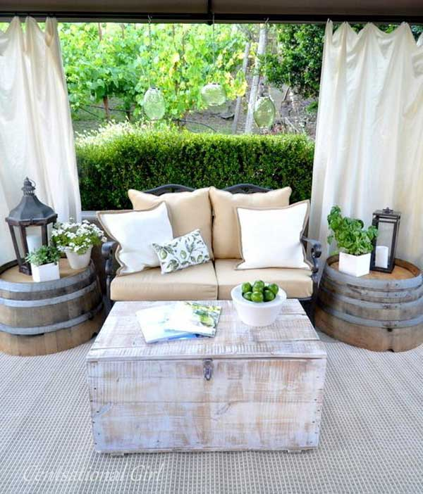 26 super cool inexpensive outdoor bars for your home 16 sliced barrels beautifying space solutioingenieria Gallery